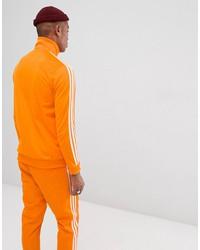 adidas originals beckenbauer track jacket in orange dh5821
