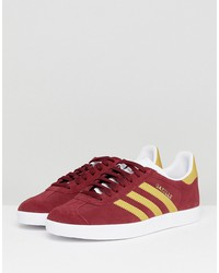 adidas originals gazelle sneakers in collegiate burgundy