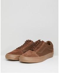 vans old skool sneakers in orange va38g1qw2