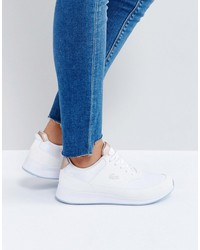 lacoste chaumont lace 317 1 sneakers in white and pearl copper