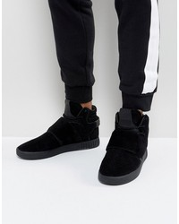 adidas originals tubular invader strap sneakers in black by3632