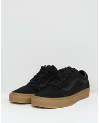 Fashion shoes | Vans Old Skool Velcro Sneakers In Black