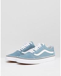 vans old skool canvas sneakers in blue va38g12lj