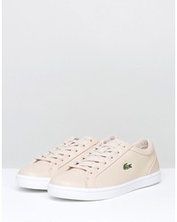 lacoste straightset lace 317 sneakers in nude
