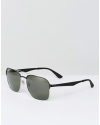 ray-ban square aviator sunglasses 0rb3570