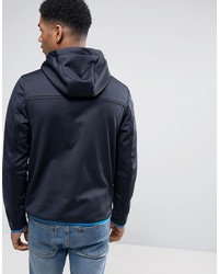 tommy hilfiger denim  hooded soft shell jacket in black