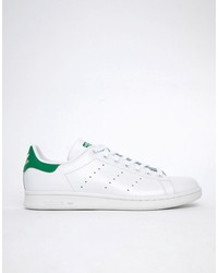 adidas originals stan smith leather trainers in white m20324