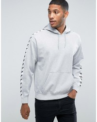 adidas originals adicolor tnt tape hoodie in gray bs4683