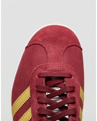 adidas originals gazelle sneakers in collegiate burgundy
