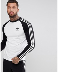 adidas originals adicolor longsleeve top in black cw1228
