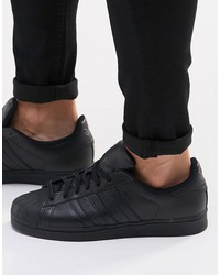 adidas originals superstar sneakers in black af5666