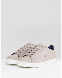 lacoste straightset lace 317 sneakers in mauve