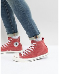 converse chuck taylor all star hi sneakers in red 159538c