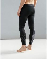 reebok training compression tights in print in black bq3472