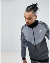 adidas originals plgn knitted track jacket in black cw5108