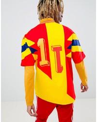adidas originals retro colombia soccer jersey in yellow cd6956