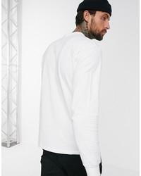 vans classic long sleeve t-shirt in white