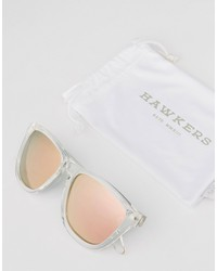 hawkers one polarised square sunglasses in pink