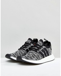 adidas originals nmd r2 primeknit sneakers in black by9409