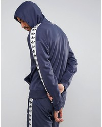 adidas originals adicolor tnt tape hoodie in blue bs4675