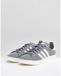 adidas originals campus sneakers in gray bz0085
