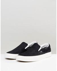 vans classic slip-on snake sneakers in black va38f7os3