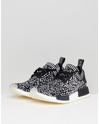 adidas originals nmd r1 primeknit sneakers in black by3013