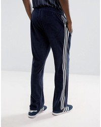 adidas originals osaka velour joggers in navy cv8960
