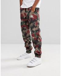 adidas originals x pharrell williams hu hiking joggers in red cy7870