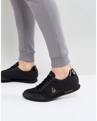 le coq sportif racrone nylon patent sneakers in black 1720264