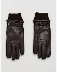 ps paul smith goat leather made in italy gloves in brown