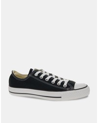 converse all star ox plimsolls in black m9166c