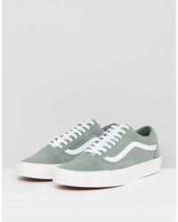 vans old skool suede sneakers in green va38g1oi6
