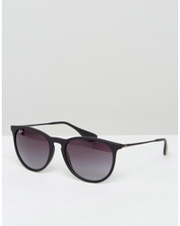 ray-ban erika keyhole sunglasses in black rb4171 622/8g