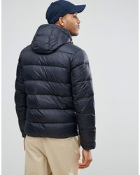 tommy hilfiger denim down puffer jacket detachable hood in black
