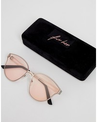 hawkers omnia round sunglasses in pink