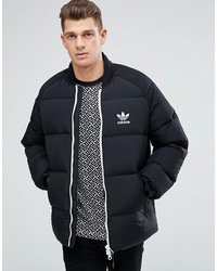 Adidas Originals Superstar Quilted Jacket In Navy Br7155