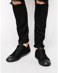 converse all star lean sneakers in black 142274c
