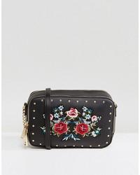 aldo moretta embroidered mini cross body bag