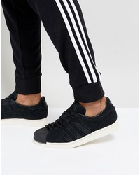 adidas originals superstar sneakers in black bz0201