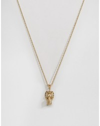 mister cherub necklace in gold