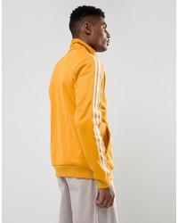 adidas originals beckenbauer track jacket in yellow br4326