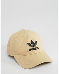 adidas originals trefoil cap in beige cd8802