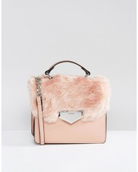 aldo moraine faux fur cross body bag
