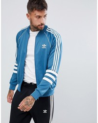 adidas originals authentic superstar track jacket in blue dj2857