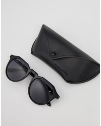 hawkers warwick round sunglasses in black