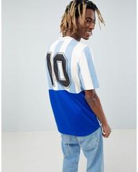 adidas originals retro argentina soccer jersey in blue ce3732