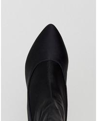 raid darcie black heeled sock boots