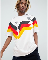 adidas originals retro germany soccer jersey in white ce2343