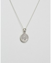 chained & able st christopher mini medallion necklace in silver